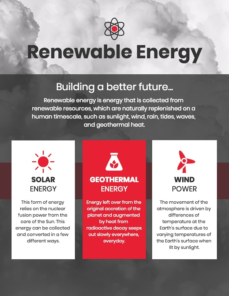 Renewable Energy Comparison Infographic Templates