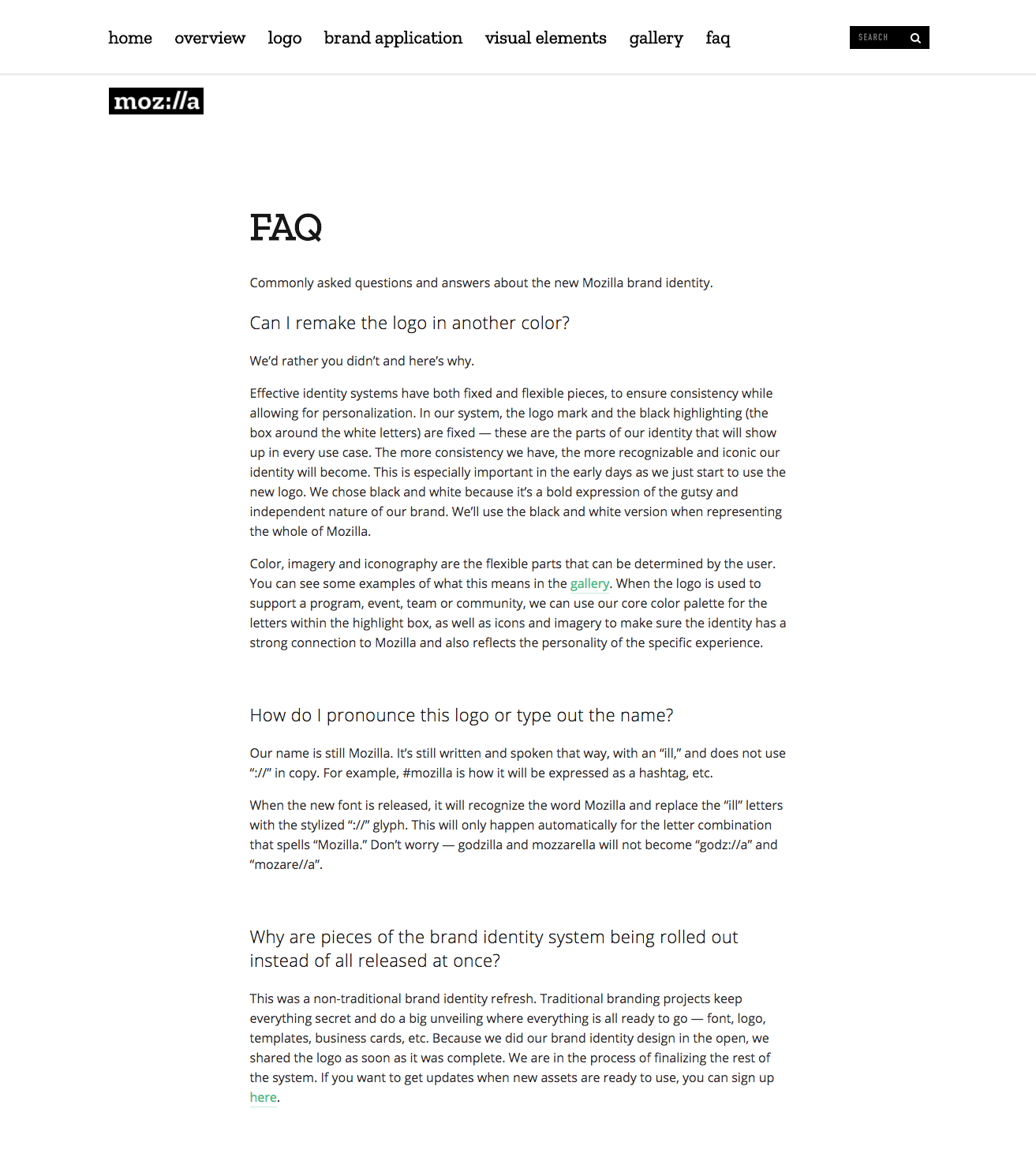 65 brand guidelines templates examples tips for consistent 5 clear up any confusion with an faq section fandeluxe Images