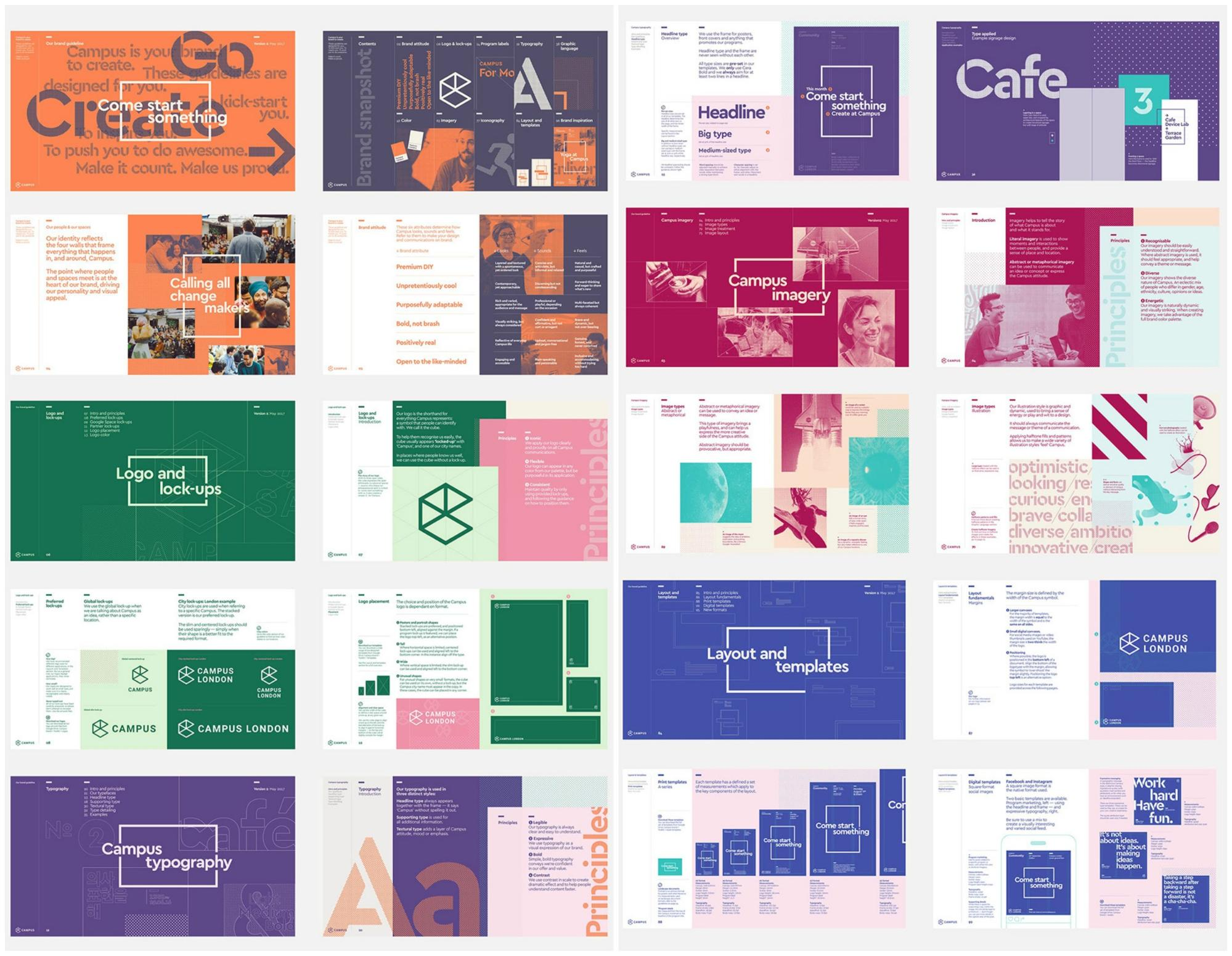 65 Brand Guidelines Templates Examples Tips For Consistent Color Circuit Board Electronic Template Large Business Cards Pack Of Designate Each Section Your With A Different