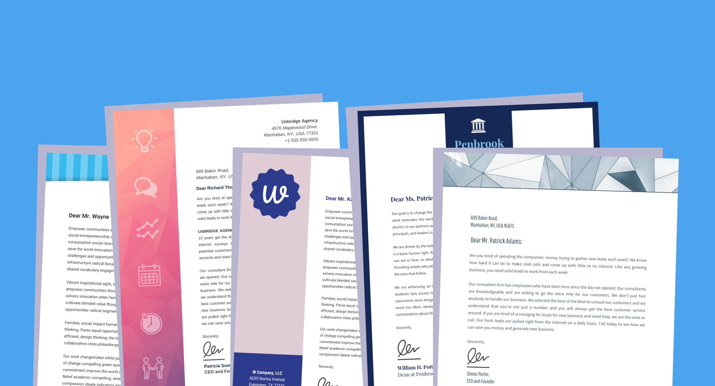 20  professional business letterhead templates and
