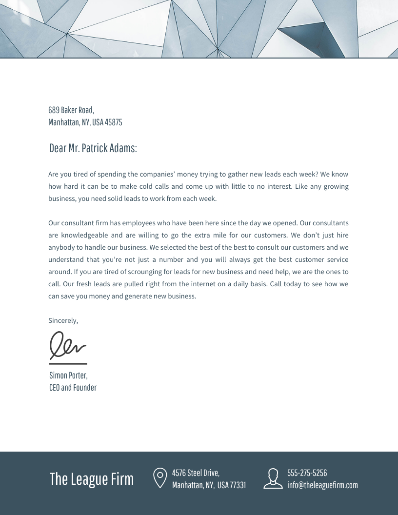 Header Template Business Letter Head