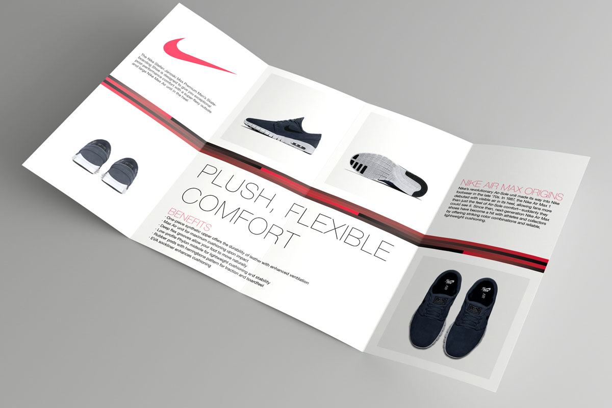 Marketing brochure design guide make a brochure in 5 for Nike brochure design
