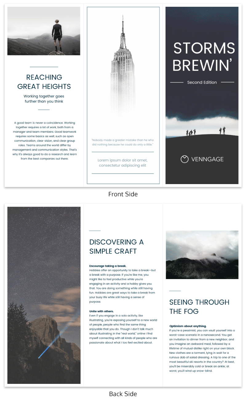 nice brochure templates - 12 brochure templates and design tips to inform your