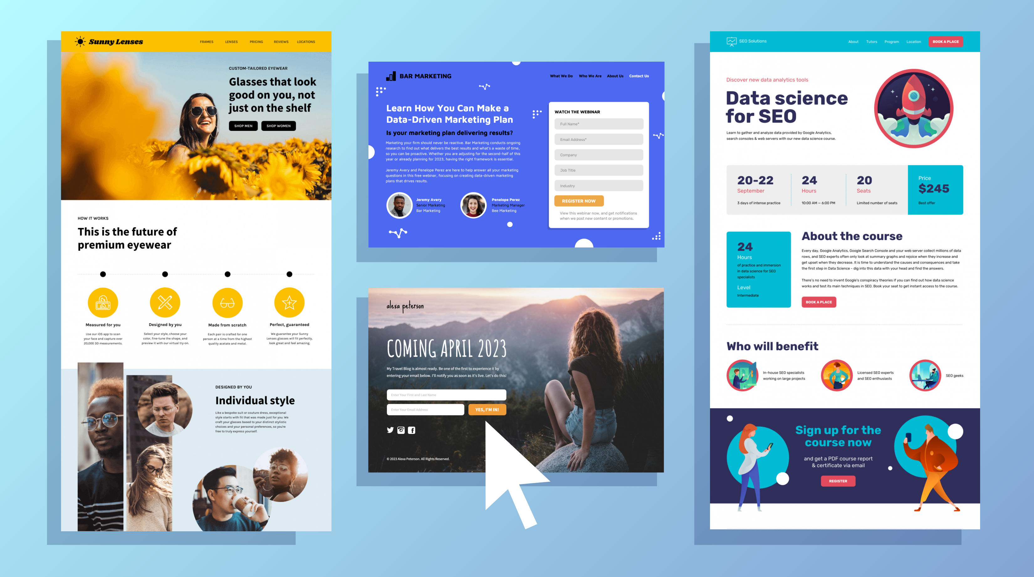 20 Landing Page Examples To Inspire Your Design Templates Venngage