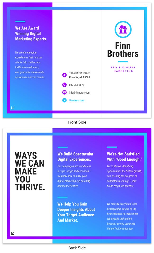 marketing brochure examples tips templates1 use this template - Marketing Brochure Template