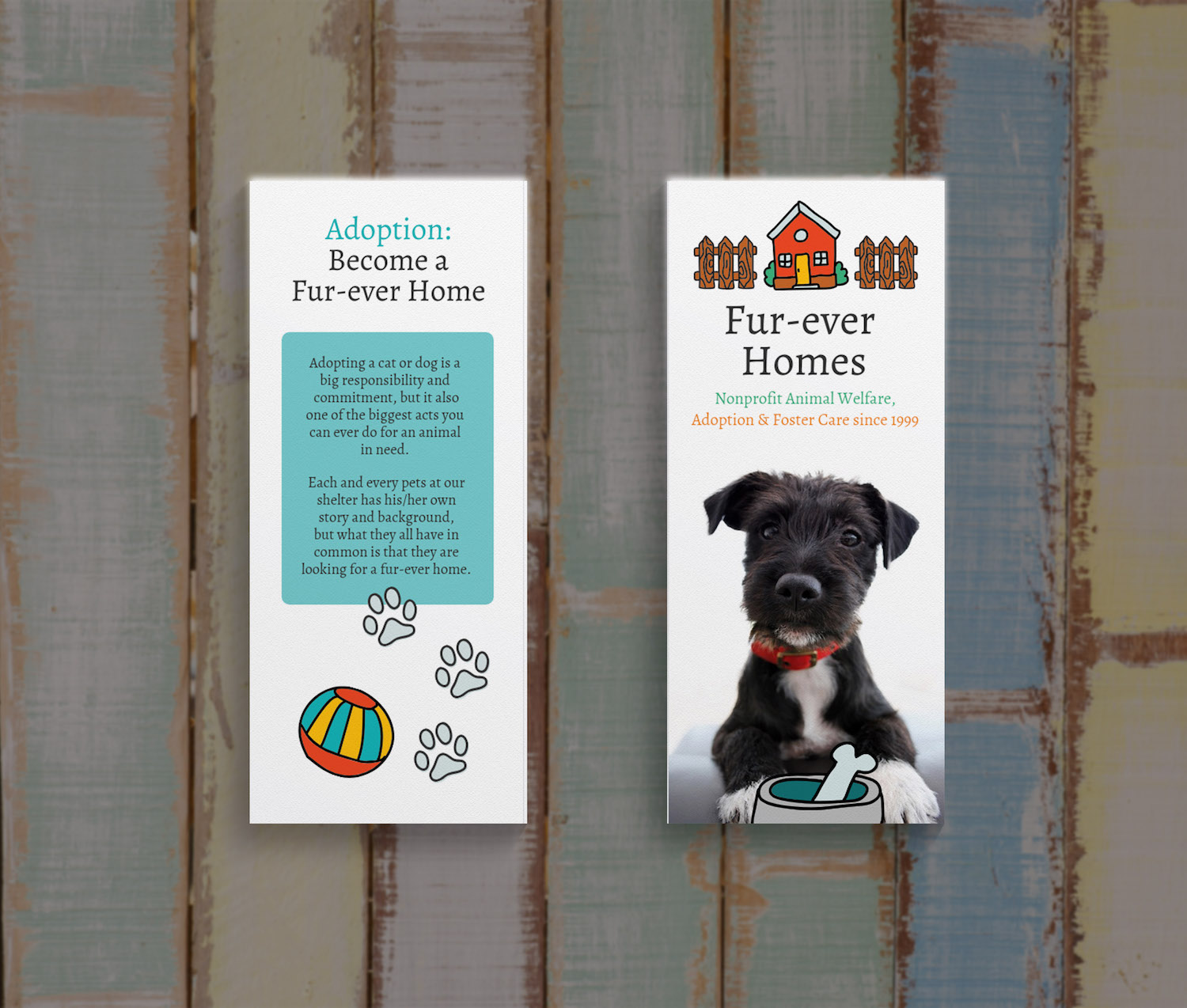 Nonprofit Pet Shelter Trifold Brochure1