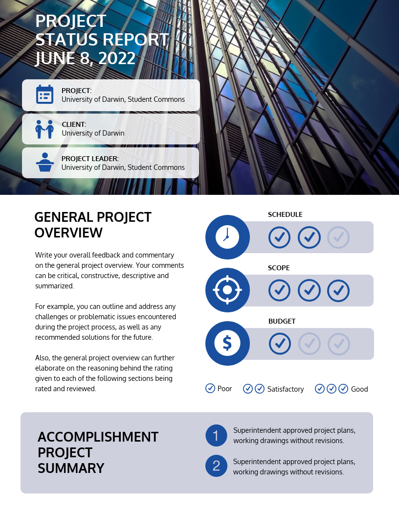 project plan summary template