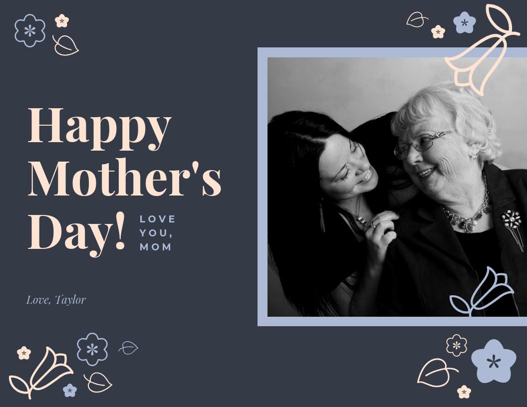 Dark Happy Mother's Day Card