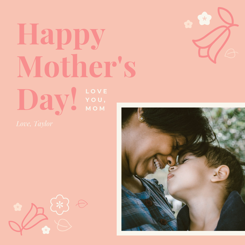 Pink Happy Mother's Day Card