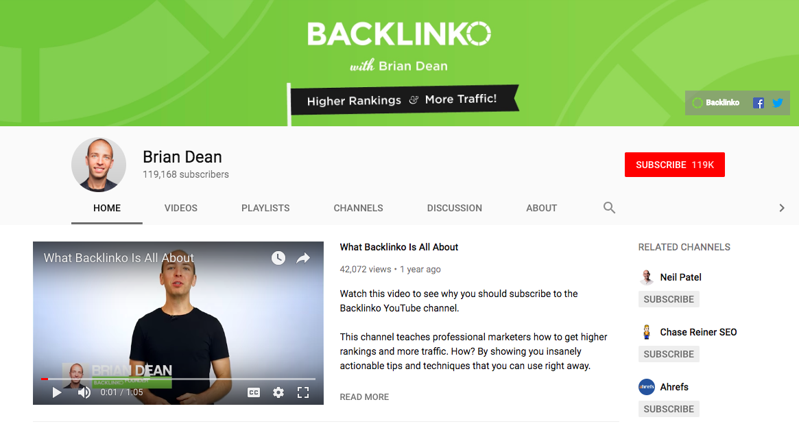 backlinko youtube banner