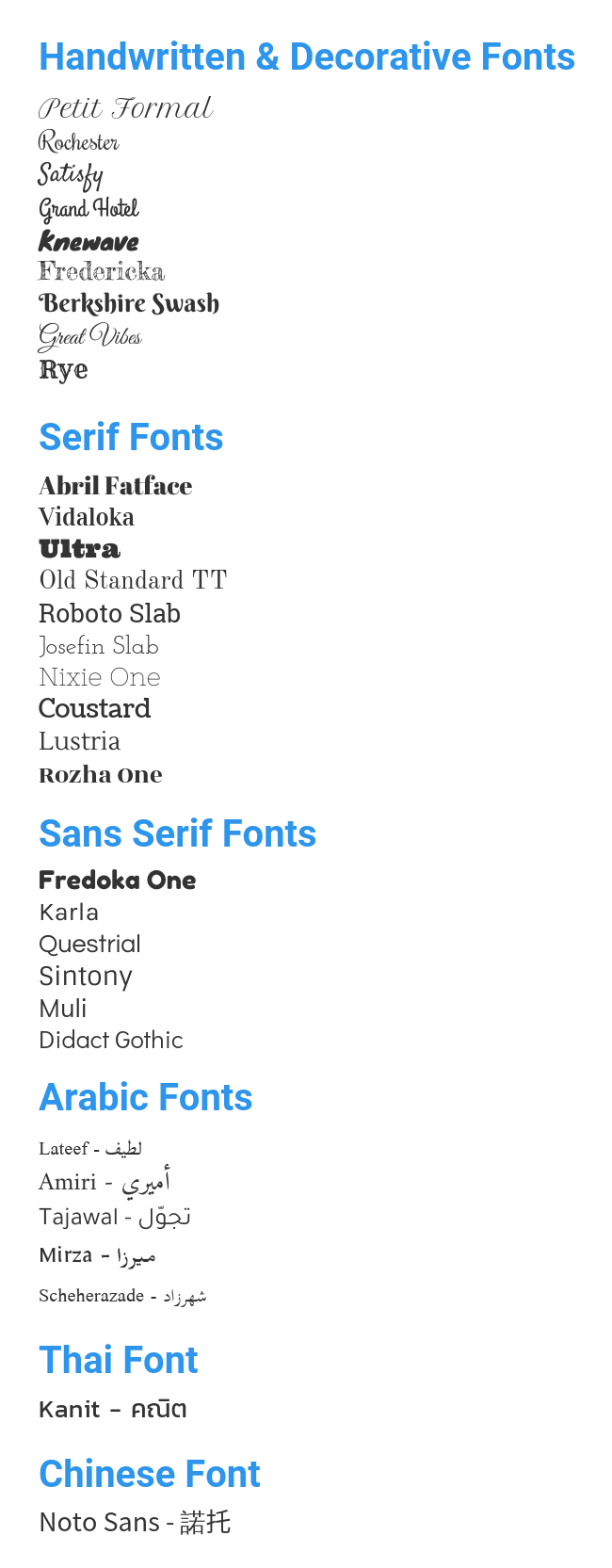 new fonts Venngage