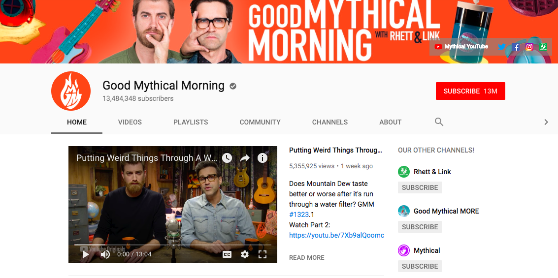 good mythical morning banner