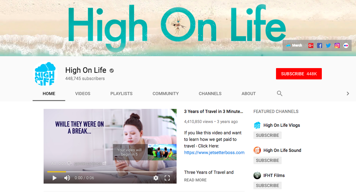 high on life youtube banner