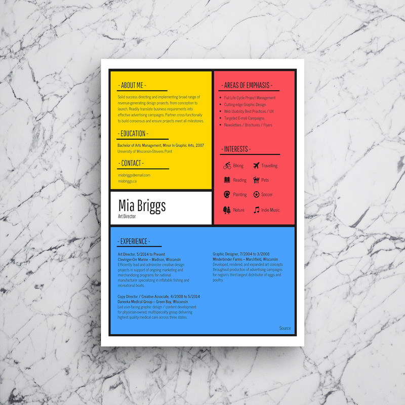 Artist Infographic Resume Template