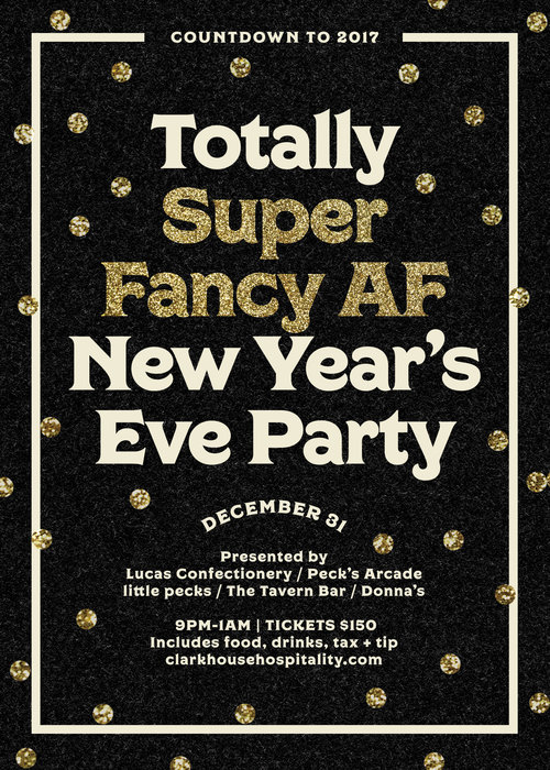 Black Creative New Years Flyer Example