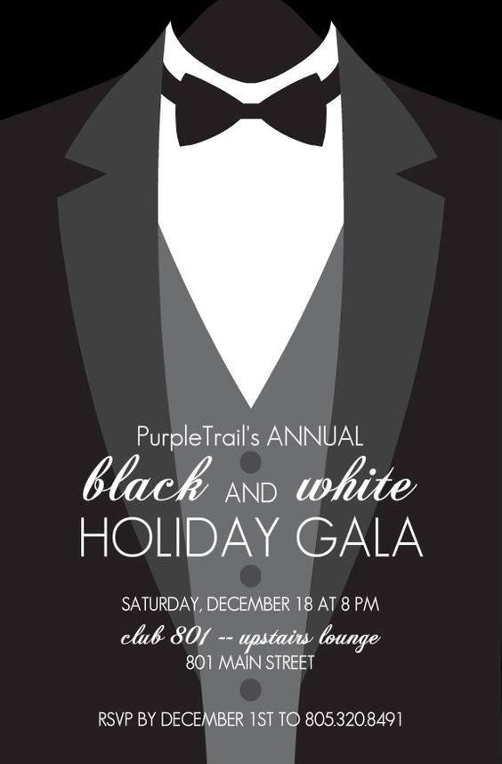 Black Tie Event Poster Design