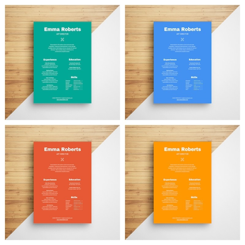 Bold Colorful Resume Infographic Template11