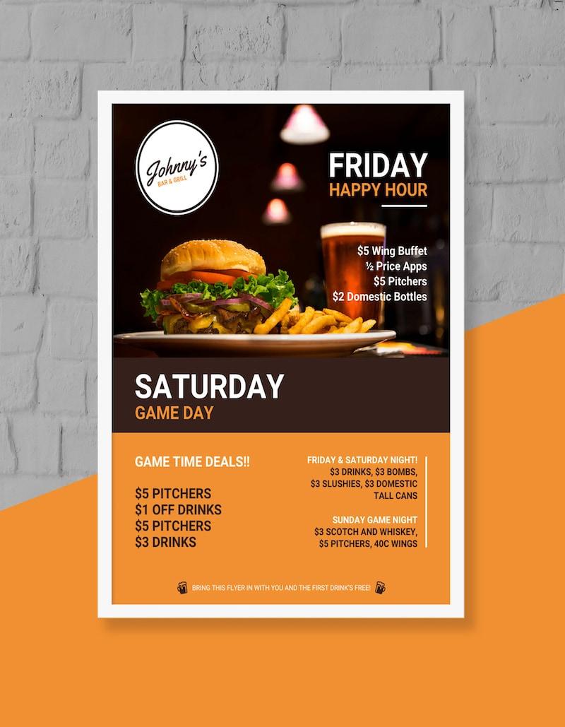 Business Restaurant Flyer Template