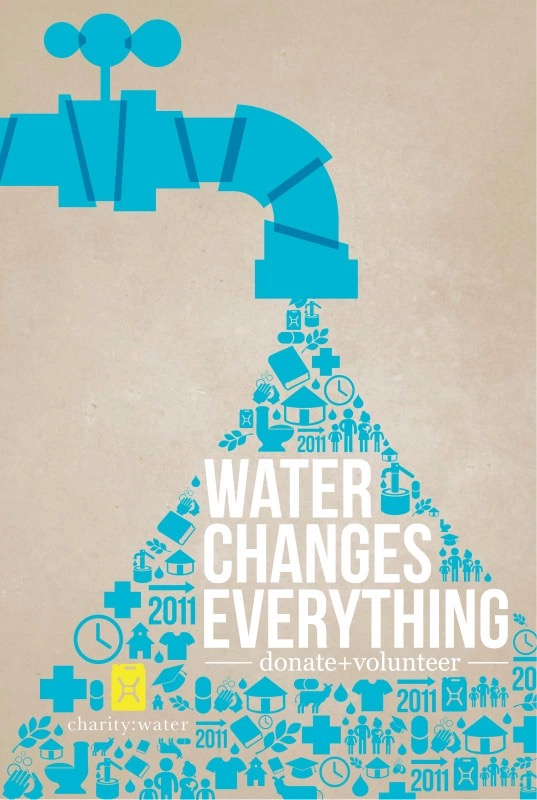Charity Water Fundraising Poster Design