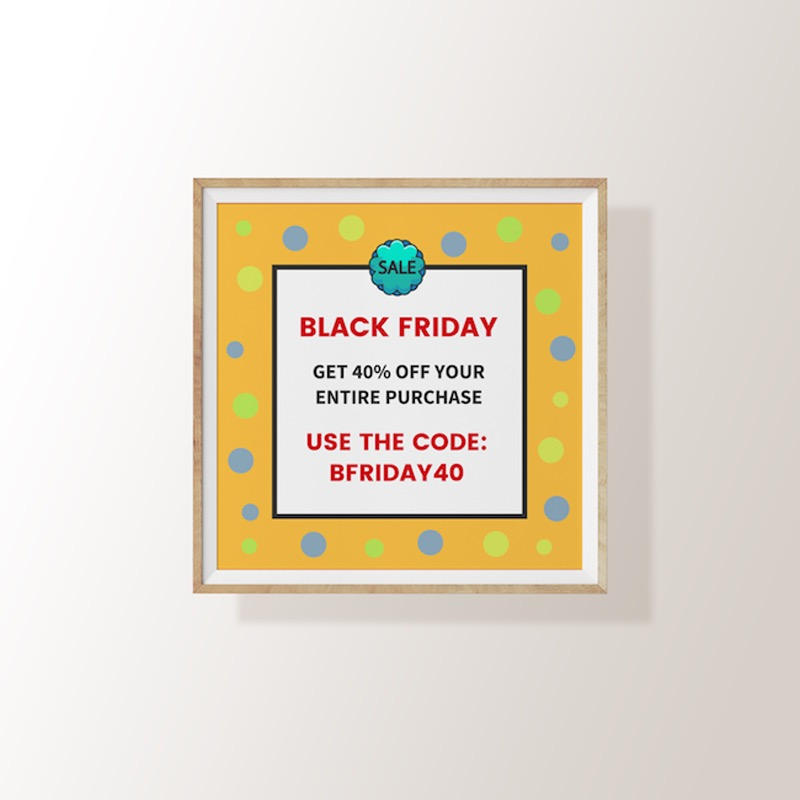 Colorful Black Friday Sales Flyer Example