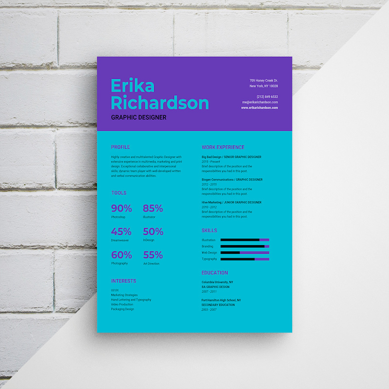 Colorful Bold Infographic Resume Template