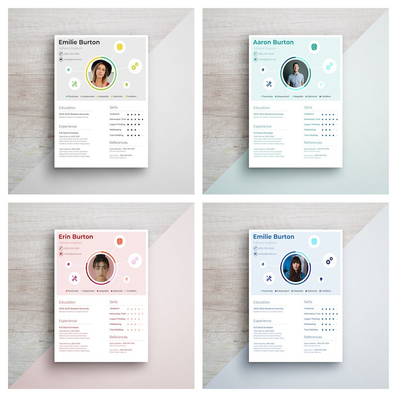 Creative Character Infographic Resume Template