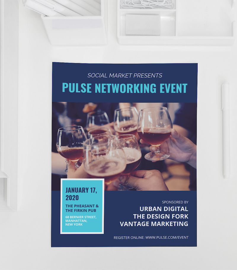 Creative Networking Event Flyer Example
