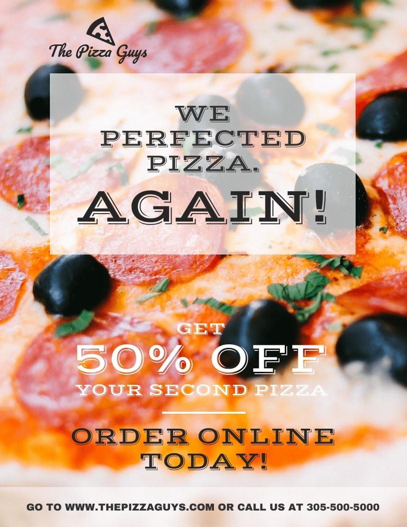Creative Restaurant Flyer Example