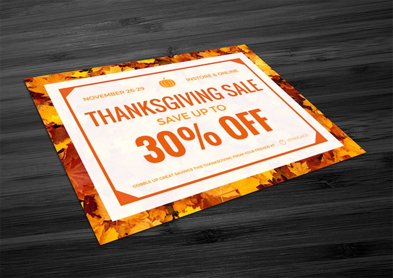 Creative Thanksgiving Sales Flyer Example