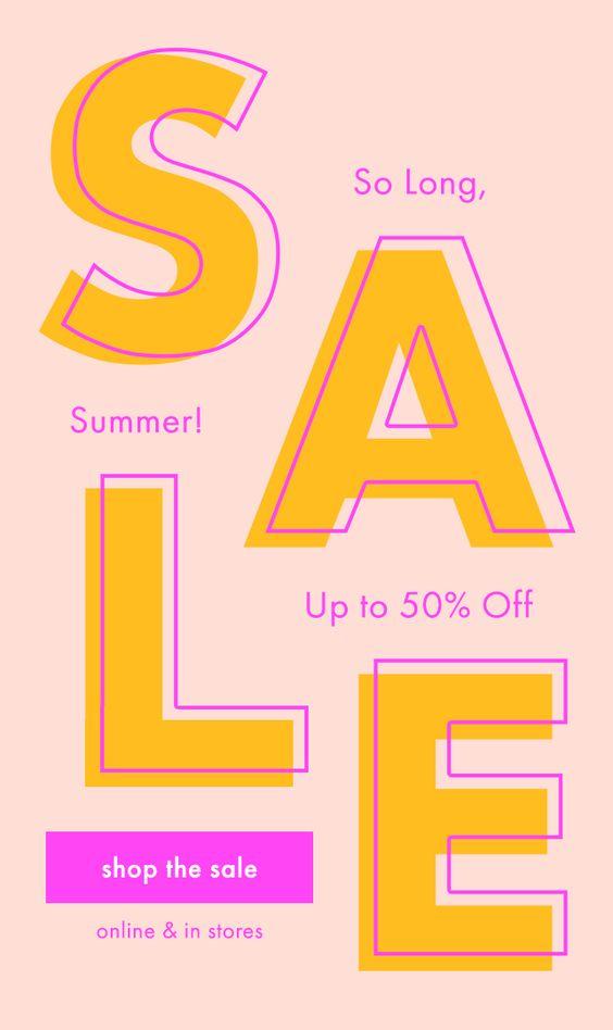 Creative Typography Sales Flyer Example