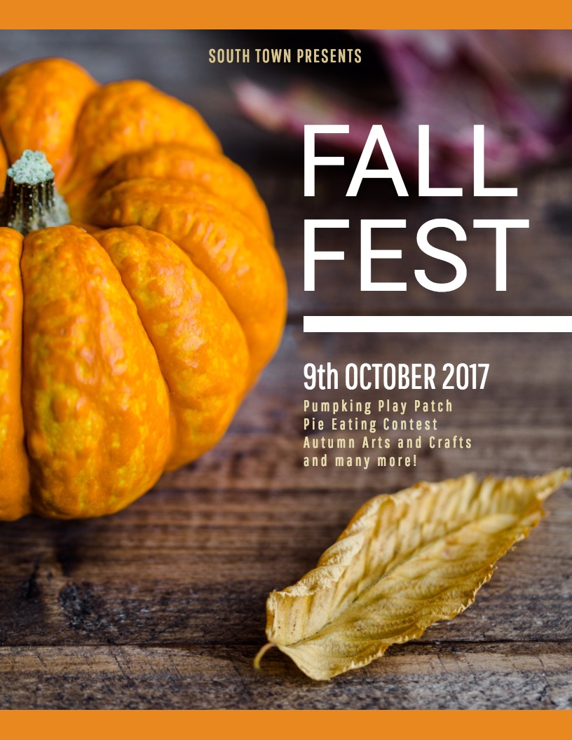 Fall Festival Event Poster Design