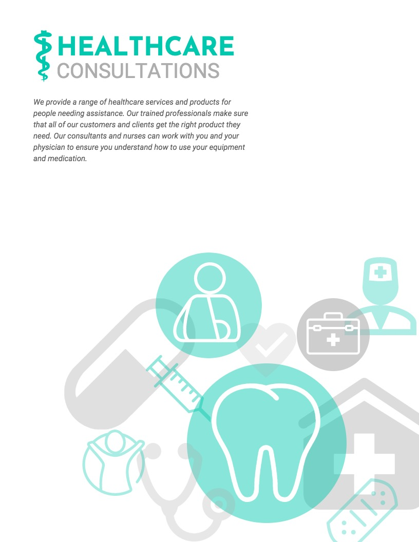 Health Care Info Poster Design