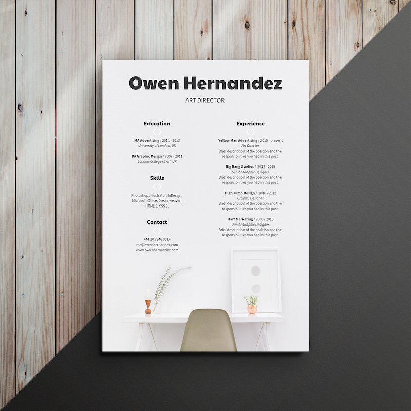 Modern Corporate Infographic Resume Template