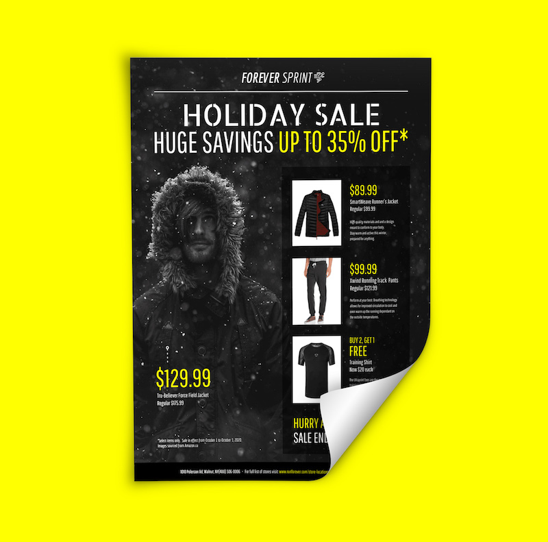 Modern Holiday Sales Flyer Example
