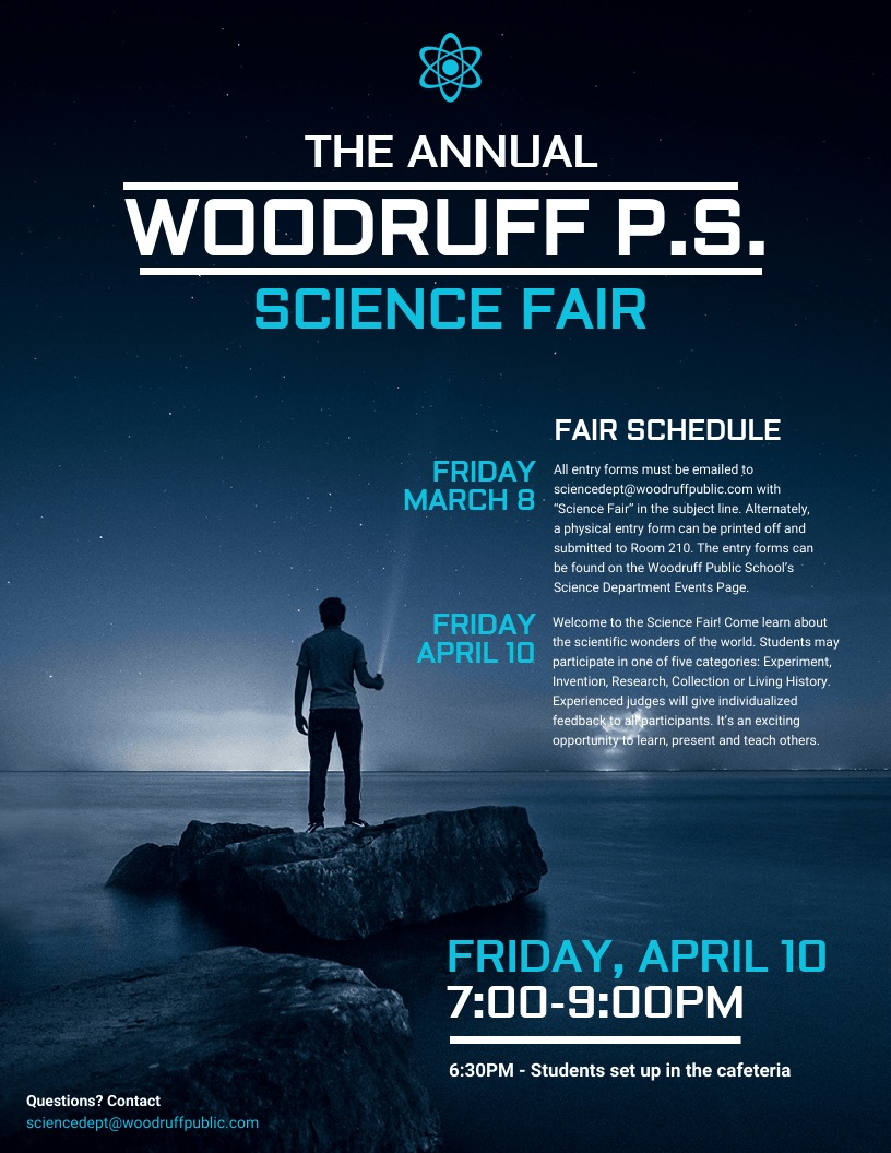 Science Fair School Event Poster Design