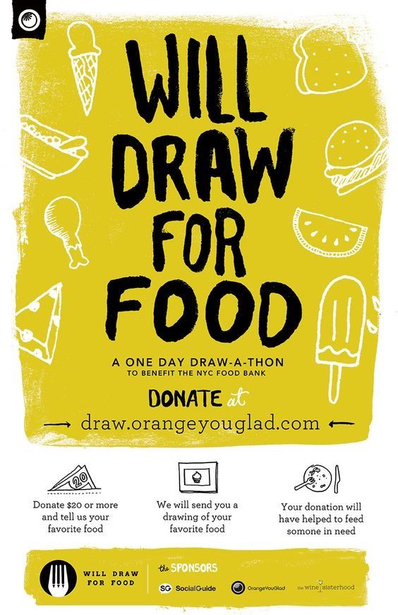 Simple Food Drive Fundraising Poster Design