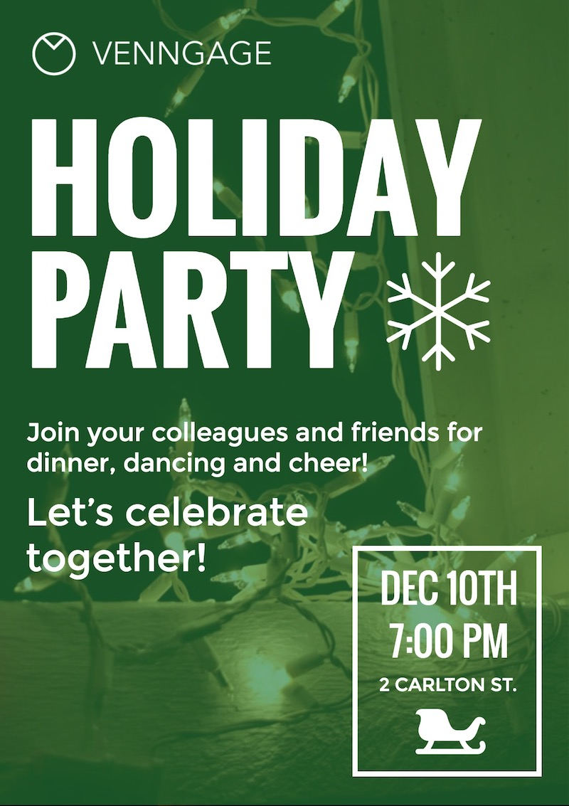 Simple Holiday Party Poster Design