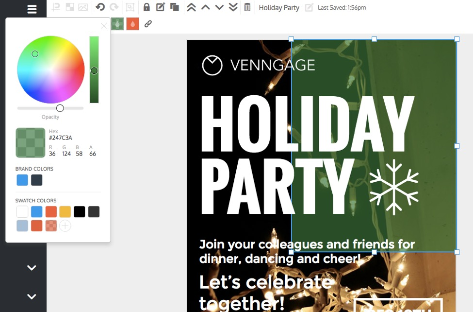 Simple Holiday Party Poster Design Example