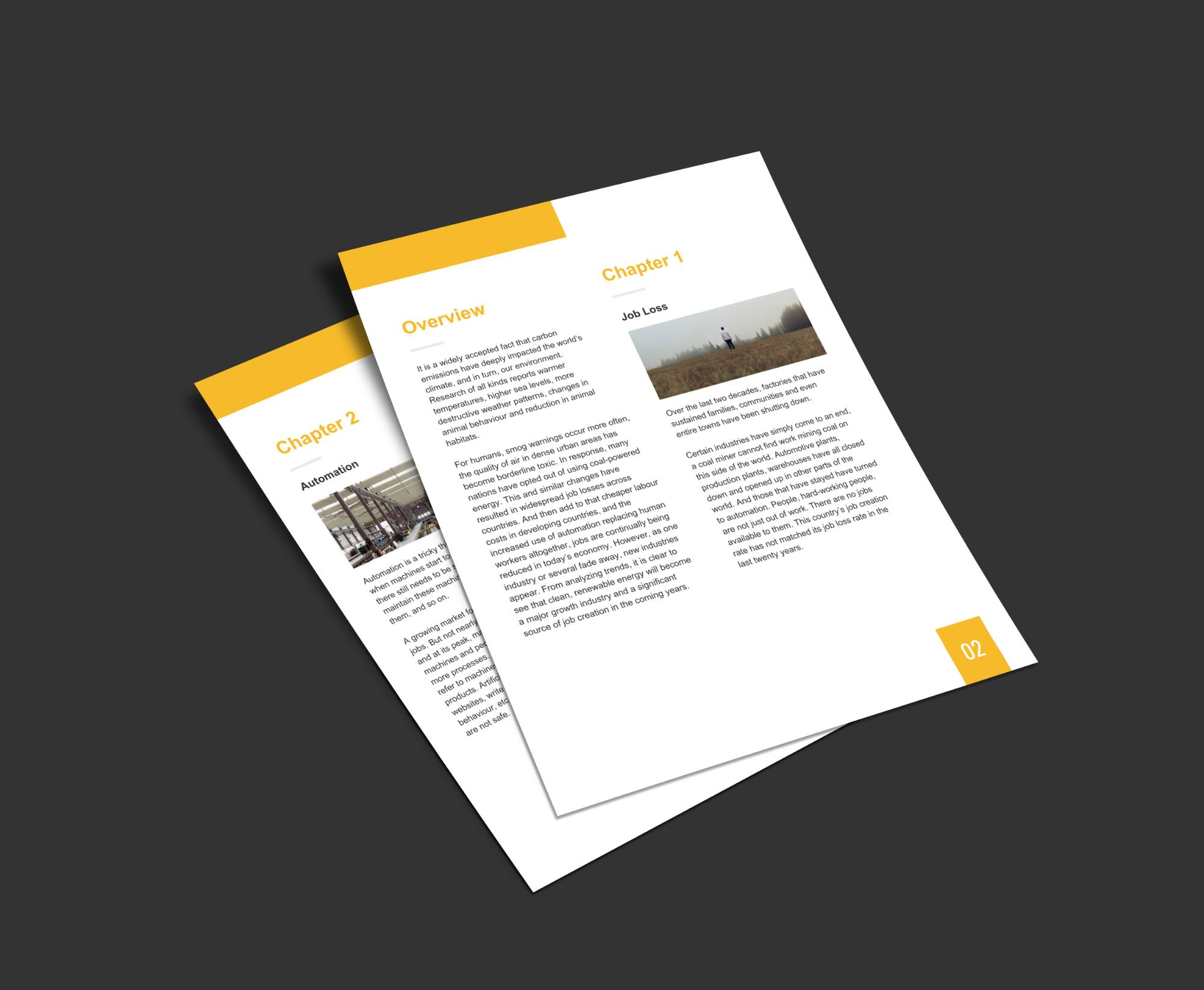 20 page turning white paper examples and design tips venngage