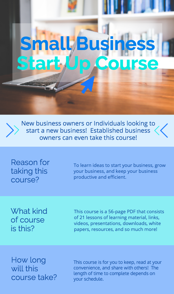 business course flyer template