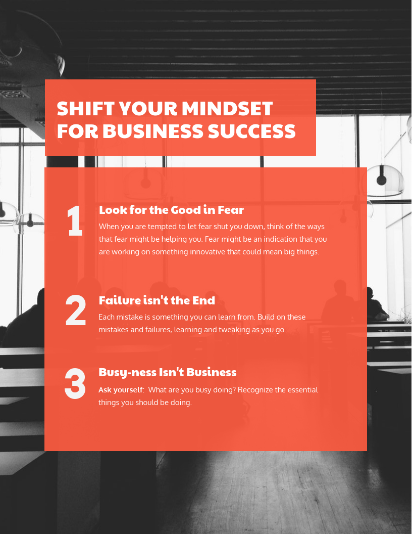 business success flyer template