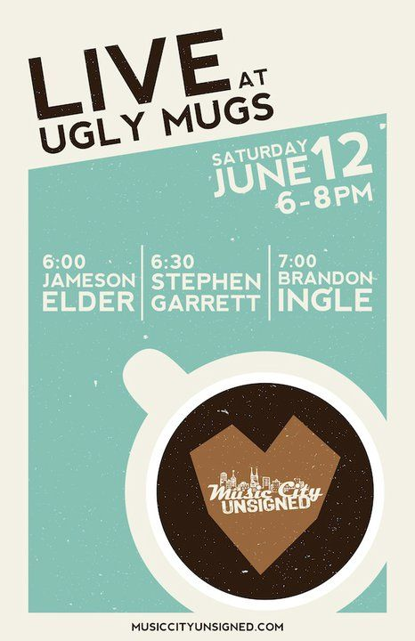 coffee cup logo event flyer