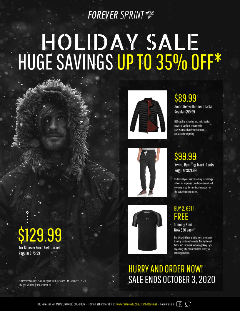 holiday sale retail flyer template