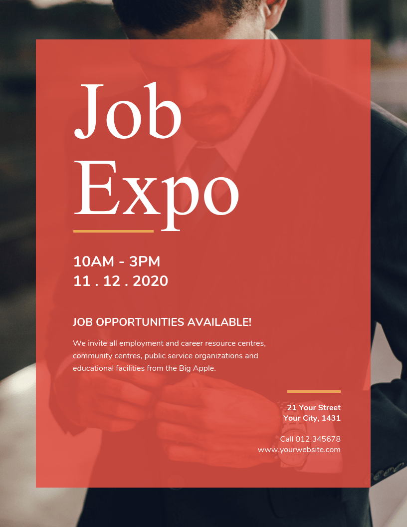 job recruitment event flyer template