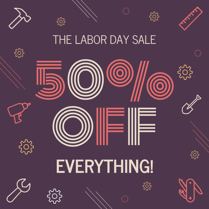 labor day sale social media flyer template