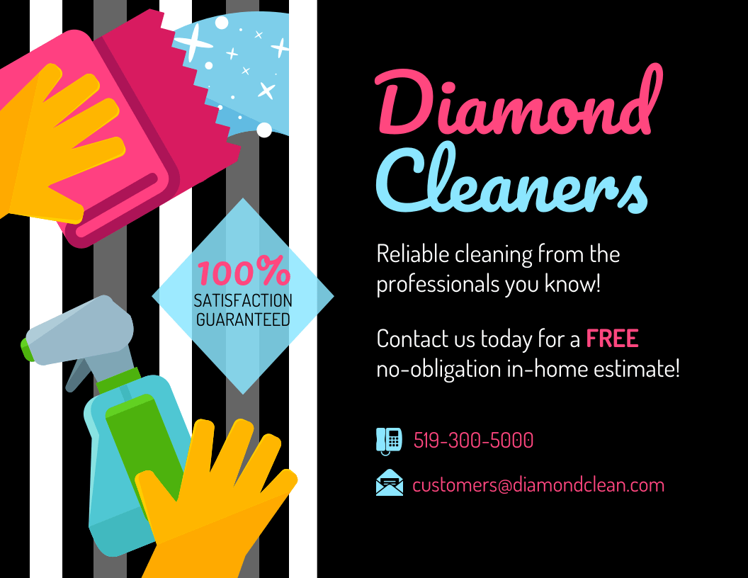 modern cleaning service flyer template