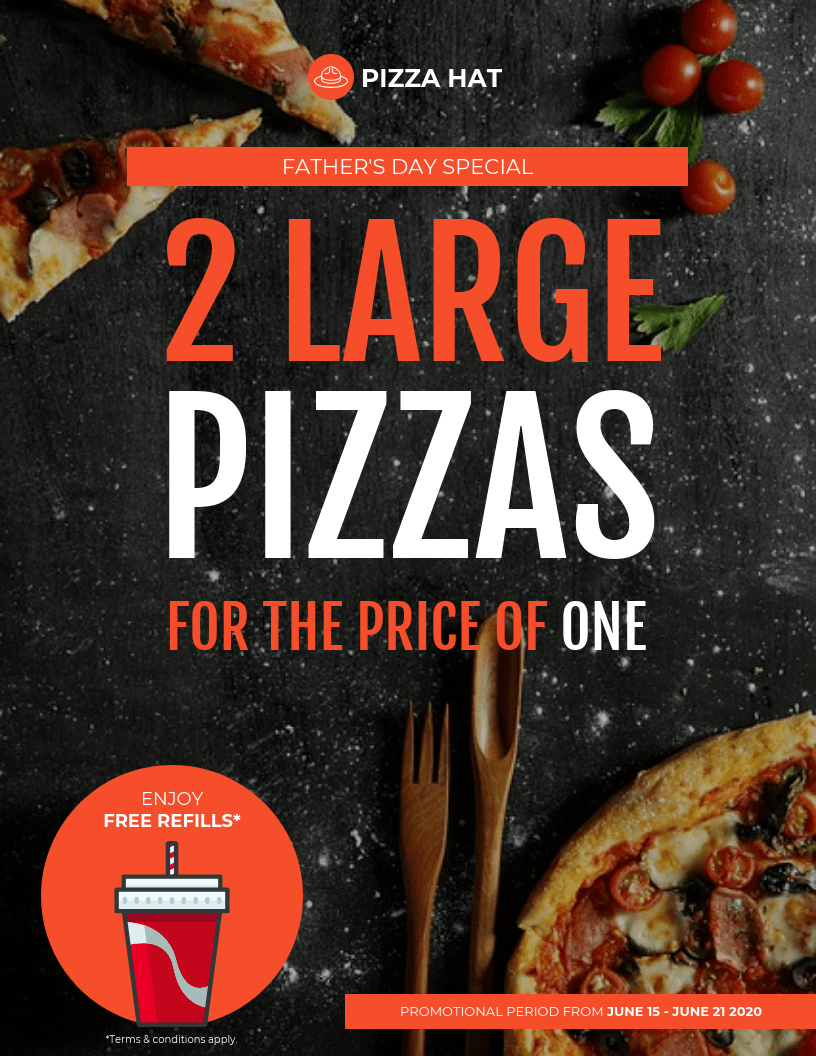 pizza event flyer template