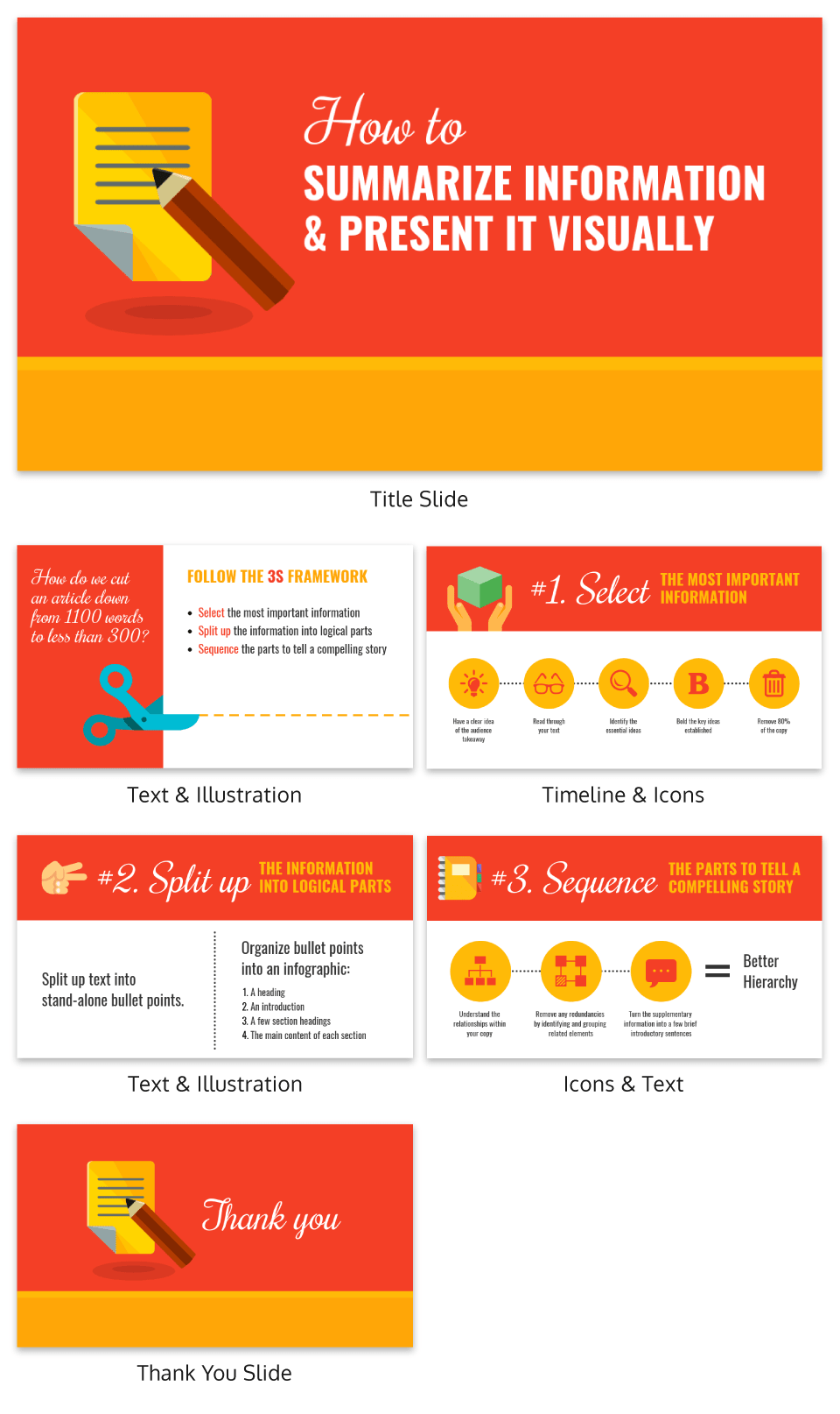 powerpoint template summarize information