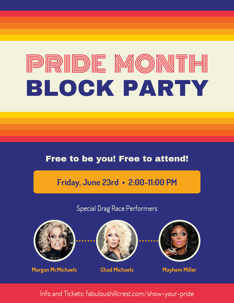 retro pride flyer template