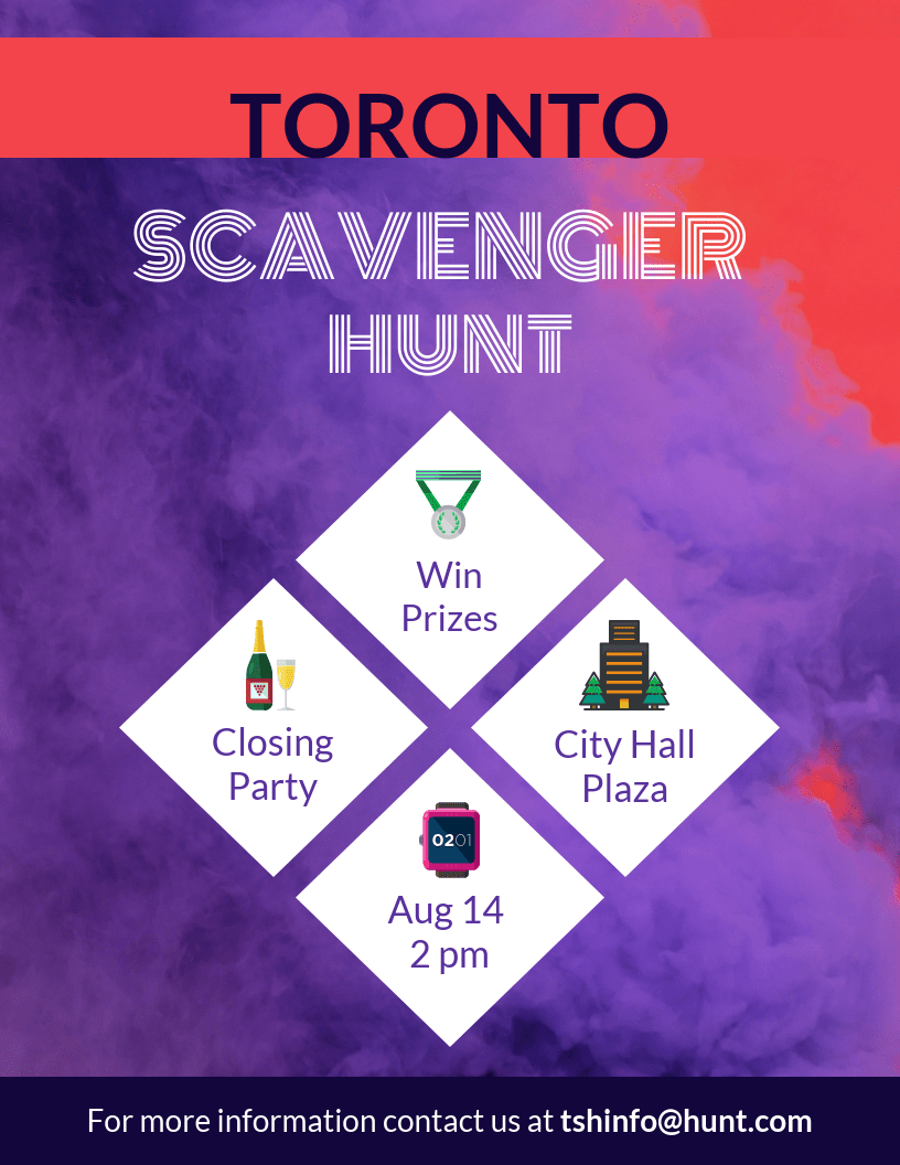 scavenger hunt event flyer template